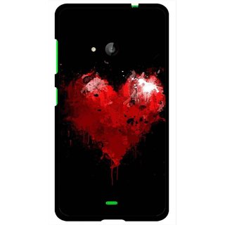 Snooky Printed Crying Heart Mobile Back Cover For Microsoft Lumia 535 - Black