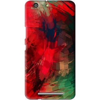 Snooky Printed Modern Art Mobile Back Cover For Gionee Marathon M5 - Red