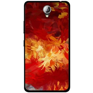 Snooky Printed Flamy Fire Mobile Back Cover For Lenovo A5000 - Red