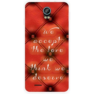 Snooky Printed We Deserve Mobile Back Cover For Intex Aqua Life 2 - Red