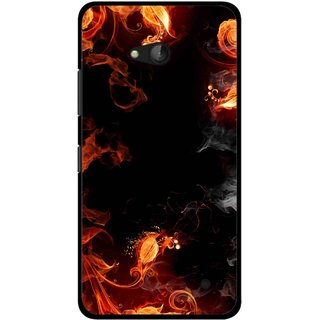 Snooky Printed Fire Lamp Mobile Back Cover For Nokia Lumia 640 - Orange