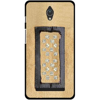Snooky Printed Dice Mobile Back Cover For Asus Zenfone C - Brown