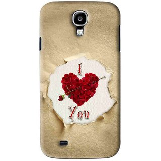 Snooky Printed Love Heart Mobile Back Cover For Samsung Galaxy S4 - Multi