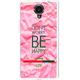 best sneakers c539c d176c Snooky Printed Be Happy Mobile Back Cover For Gionee Elife E7 - Pink