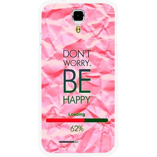 Snooky Printed Be Happy Mobile Back Cover For Micromax Canvas Juice A177 - Pink