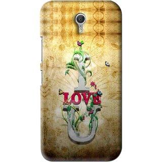 Snooky Printed I Love You Mobile Back Cover For Lenovo Zuk Z1 - Brown