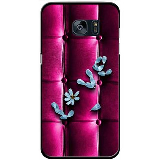Snooky Printed Love Air Mobile Back Cover For Samsung Galaxy S7 - Purple