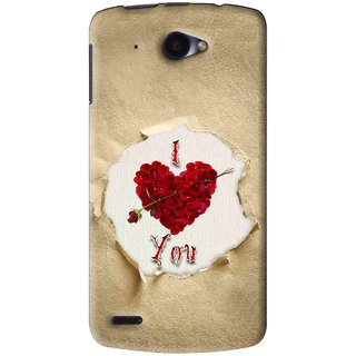 Snooky Printed Love Heart Mobile Back Cover For Lenovo S920 - Multi