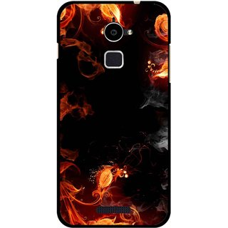 Snooky Printed Fire Lamp Mobile Back Cover For Coolpad Note 3 Lite - Orange