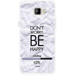 Snooky Printed Be Happy Mobile Back Cover For Micromax Canvas Nitro A310 - Grey