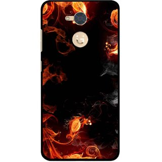 Snooky Printed Fire Lamp Mobile Back Cover For Gionee S6 Pro - Orange