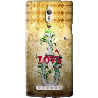 Snooky Printed I Love You Mobile Back Cover For Oppo Find 7 - Brown