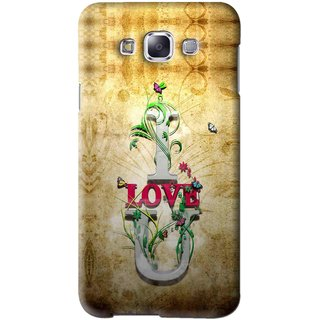 Snooky Printed I Love You Mobile Back Cover For Samsung Galaxy A5 - Brown