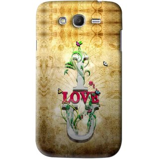 Snooky Printed I Love You Mobile Back Cover For Samsung Galaxy Grand - Brown