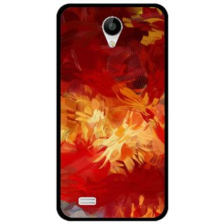 Snooky Printed Flamy Fire Mobile Back Cover For Vivo Y22 - Red