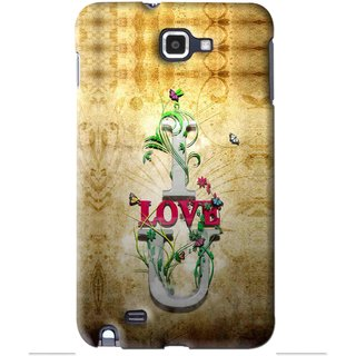 Snooky Printed I Love You Mobile Back Cover For Samsung Galaxy Note 1 - Brown