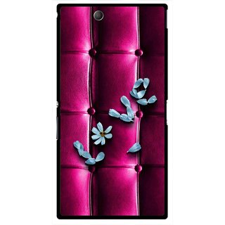 Snooky Printed Love Air Mobile Back Cover For Sony Xperia Z Ultra - Purple