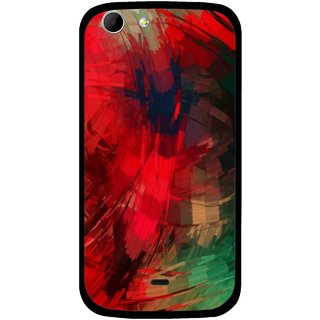 Snooky Printed Modern Art Mobile Back Cover For Micromax Canvas 4 A210 - Red