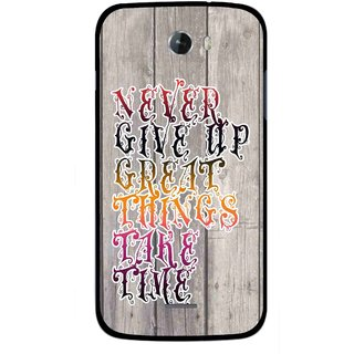 Snooky Printed Never Give Up Mobile Back Cover For Micromax Bolt A068 - Multi