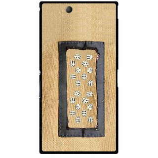 Snooky Printed Dice Mobile Back Cover For Sony Xperia Z Ultra - Brown