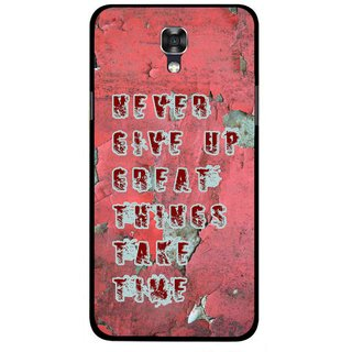 Snooky Printed Never Give Up Mobile Back Cover For Lg X Screen - Red