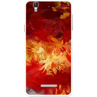 Snooky Printed Flamy Fire Mobile Back Cover For Coolpad Dazen F2 - Red