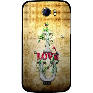 Snooky Printed I Love You Mobile Back Cover For Micromax Canvas 2 A110 - Brown