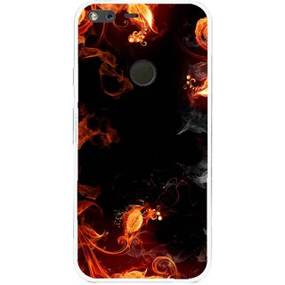 Snooky Printed Fire Lamp Mobile Back Cover For Google Pixel XL - Orange