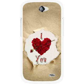 Snooky Printed Love Heart Mobile Back Cover For Gionee Pioneer P2 - Multi