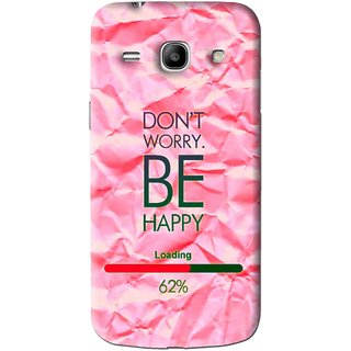 Snooky Printed Be Happy Mobile Back Cover For Samsung Galaxy Star Advance SM G350E - Pink