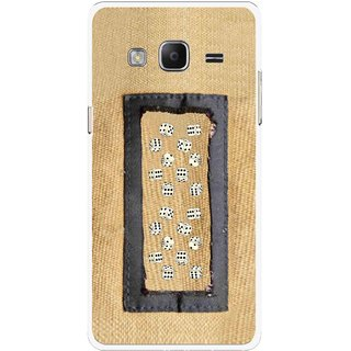 Snooky Printed Dice Mobile Back Cover For Samsung Tizen Z3 - Brown