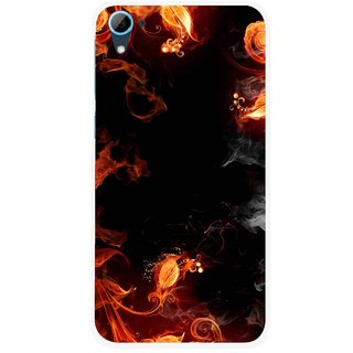 Snooky Printed Fire Lamp Mobile Back Cover For HTC Desire 826 - Orange