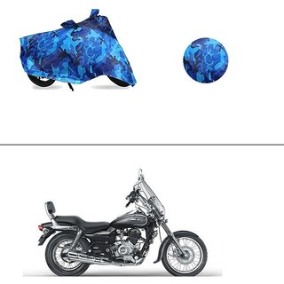 AutoStark Water Resistant Blue Bike Cover Bike Body Cover Military Design For Bajaj Avenger 220 Cruise