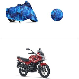 AutoStark Water Resistant Blue Bike Cover Bike Body Cover Military Design For Bajaj Discover 150 f