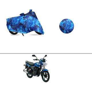AutoStark Water Resistant Blue Bike Cover Bike Body Cover Military Design For Bajaj Platina