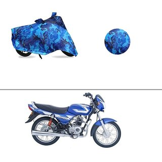 AutoStark Water Resistant Blue Bike Cover Bike Body Cover Military Design For Bajaj CT 100
