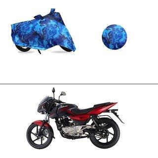 AutoStark Water Resistant Blue Bike Cover Bike Body Cover Military Design For Bajaj Pulsar 180 DTS-i
