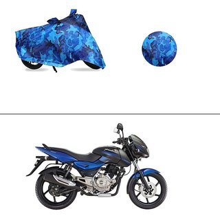 AutoStark Water Resistant Blue Bike Cover Bike Body Cover Military Design For Bajaj Pulsar