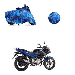 AutoStark Water Resistant Blue Bike Cover Bike Body Cover Military Design For Bajaj Pulsar 150