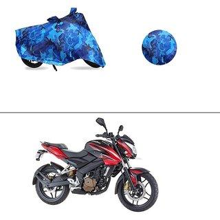 AutoStark Water Resistant Blue Bike Cover Bike Body Cover Military Design  For Bajaj Pulsar 200 NS DTS-i
