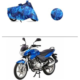AutoStark Water Resistant Blue Bike Cover Bike Body Cover Military Design For Bajaj Discover 100 DTS-i