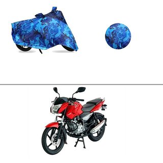 AutoStark Water Resistant Blue Bike Cover Bike Body Cover Military Design For Bajaj Pulsar 135 LS DTS-i