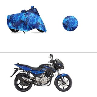 AutoStark Water Resistant Blue Bike Cover Bike Body Cover Military Design For Bajaj Pulsar 150 DTS-i