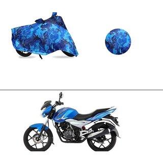 AutoStark Water Resistant Blue Bike Cover Bike Body Cover Military Design For Bajaj Discover