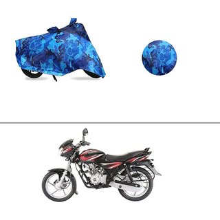 AutoStark Water Resistant Blue Bike Cover Bike Body Cover Military Design For Bajaj Discover 125 DTS-i