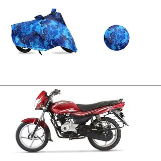 AutoStark Water Resistant Blue Bike Cover Bike Body Cover Military Design For Bajaj Platina 100 DTS-i