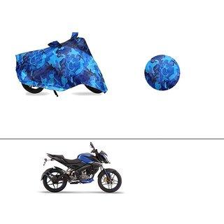 AutoStark Water Resistant Blue Bike Cover Bike Body Cover Military Design For Bajaj Pulsar NS160