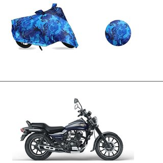 AutoStark Water Resistant Blue Bike Cover Bike Body Cover Military Design For Bajaj Avenger