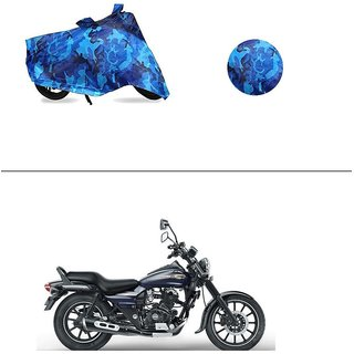 AutoStark Water Resistant Blue Bike Cover Bike Body Cover Military Design For Bajaj Avenger 150 Street