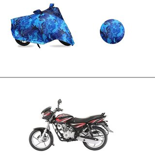 AutoStark Water Resistant Blue Bike Cover Bike Body Cover Military Design For Bajaj Discover 125